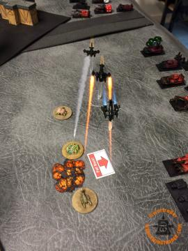 Speed Freaks Activation: The first set of Bommas came on, hoping to clear the Zombies out of the wy, but only got one kill - and due to Fearless only killed that one stand.