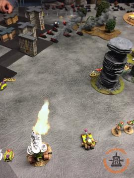 Death Guard Activation: This. Means. War. The central Plague Tower Sustains, but doesn't do much damage beyond BMs.