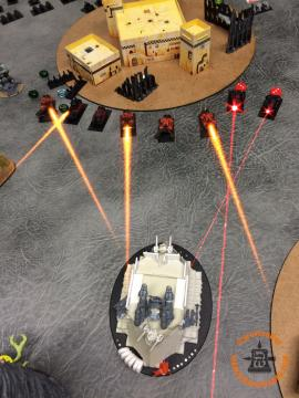 Speed Freaks Activation: Another Gunwagon formation Doubles and fires into the right Plague Tower for no damage.