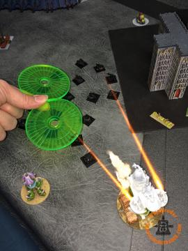 Death Guard Activation: The central Plague Tower takes exception to this, and Advances to cause two casualties.