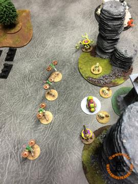 Both Forces Activations: While this was going on, my Blight Drones and Walkers Marshall, removing all BMs.