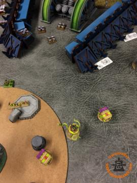 Death Guard: Contagions fail to Marshall to shoot the Assault Marines and rally instead.