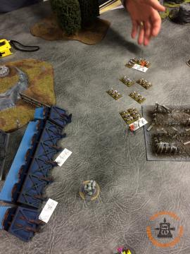 White Scars: Bikes Engage the Chosen. Killing one and winning combat.