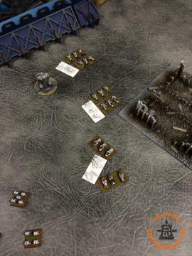 White Scars: Bikes retain and Engage the Chosen. Supporting fire from the Assault formation gets a kill and wins the combat.