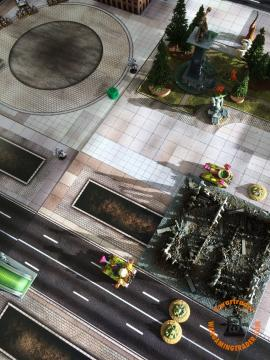 Death Guard: double with the Plaguereapers at the Land Speeders for no damage.