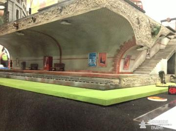 Complete with detailed Tube station.